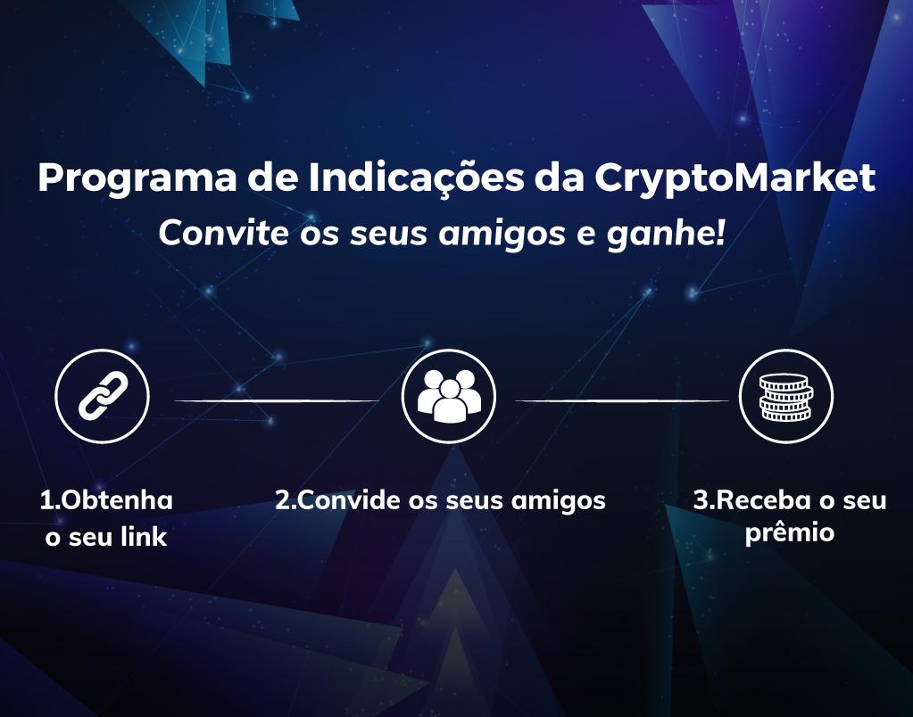 Programa de indicações da CryptoMarket